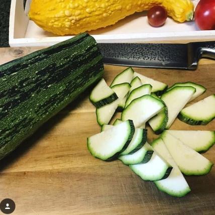 Zucchini for stir-fry.