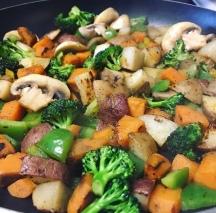 Broccoli stir-fry.