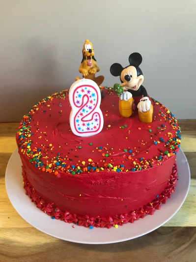 Mickey Mouse cake.