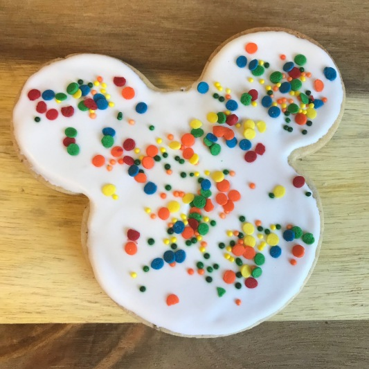 Mickey Mouse cut-outs.